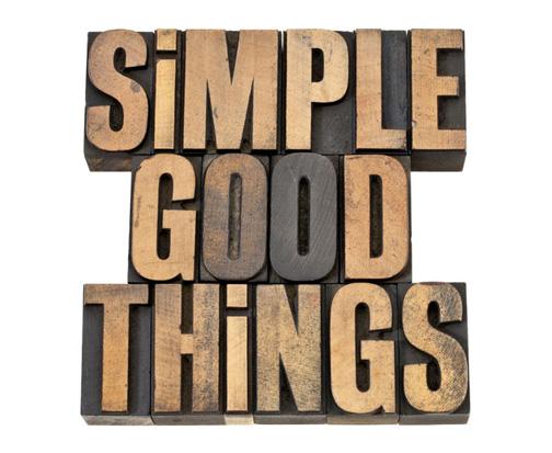 Simple, Good, Things